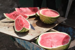 Water melons in the market of Hargeisa