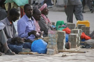 Money changers in the streets of Hargeisa (2)