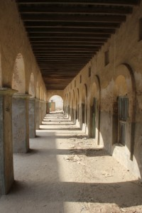 Gallery of a colonial building, Berbera