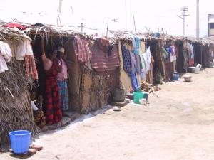 Kallar village, shelters