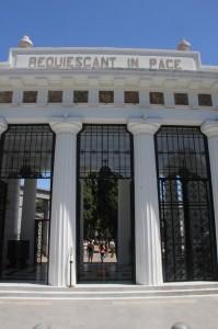 entrance to the Recoleta cemetery