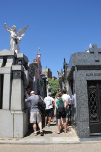 no need for signposting Evita's tomb, the hordes of tourists will point the way
