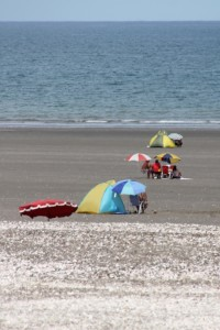 there are no facilities on the beach, you've got to bring your own