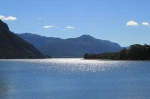 Lake Huechulafquen, the largest lake in the park
