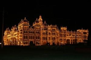 the Maharaja's  palace, illuminated (1)