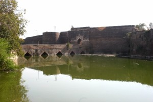the walled city of Bharatpur, complete with moat