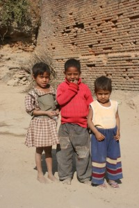 and the local children of Bharatpur