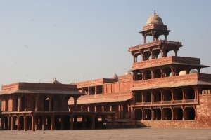 the Panch Mahal, up to five storeys high, probably one of the women palaces