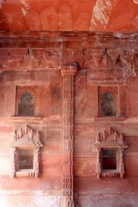 inside, intricately carved niches are presided over by pigeons, these days