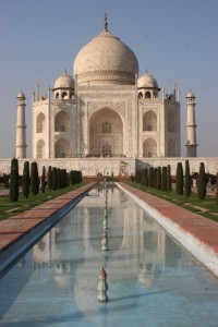and another familiar photo of the Taj Mahal
