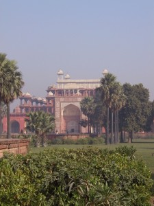 this is Akhbar the Great's tomb in Sikandra, 4 km from Agra