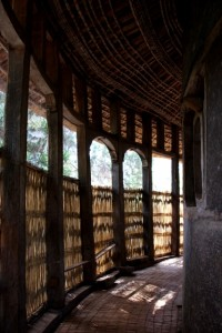 verandah around the Ura Kidane Mihret church