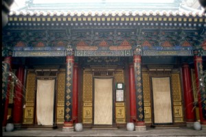 the main building of the mosque in Xi'an