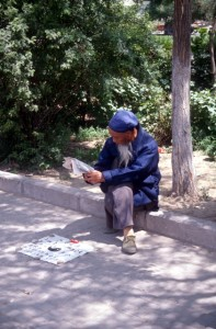 fortune teller at the Lanzhou Riviera