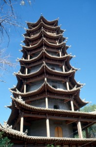 Mu Ta pagoda in Zhanye