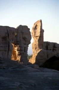 entrance to Jiaohe ruined city