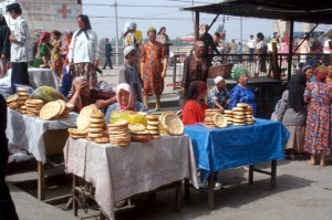 bread shop at the beginning of the market
