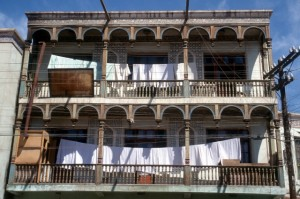 laundry on the balconies