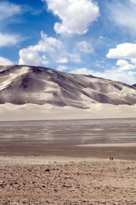 dune landscape at Lake Karakul