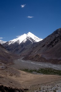 snow-capped mountain along the Karakoram Highway