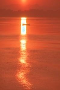 sunrise on the Irriwady