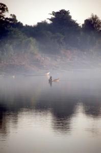 early morning canoe movements
