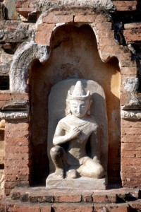 another sculpture, on the outside of a temple