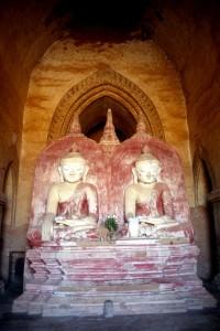 a rare twin Buddha sculpture