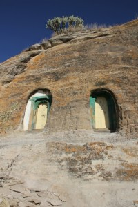 entrance to Mikel Melehayzenghi church, fully inside the mountain