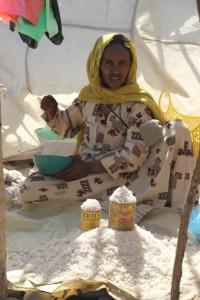 market woman selling salt