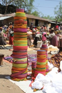 cloth for sale, to finish the typical Konso women's skirts