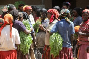 women selling qat