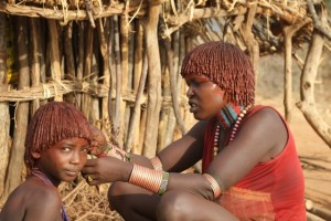 girl getting a haircut