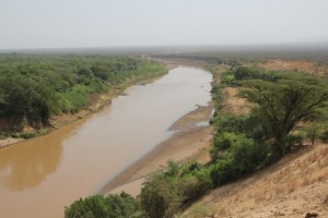 the Omo river, seen from Kolcho