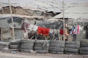 not everything is colourless: laundry drying in Afrera