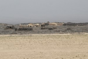 hamlet built on top of black lava
