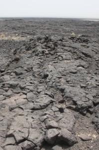 solidified lava stream