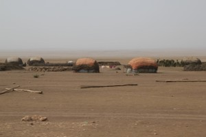 huts on the way to Wajaale