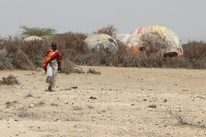 a hut just across the border, in Somaliland