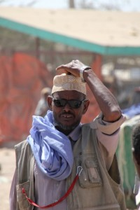 a Somali man at the camel market of Hargeisa