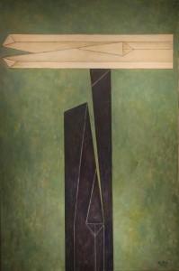 Alfredo Hlito (Arg) - Effigy in relative balance (1991), 150x100 cm