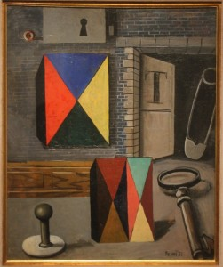 Antonio Berni (Arg) - the open door (1932), 55x45 cm