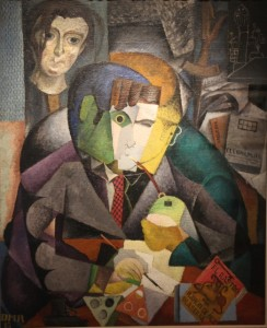 Diego Rivera (Mex) - Portrait of Ramon Gomez (1915), 110,5x90,5 cm