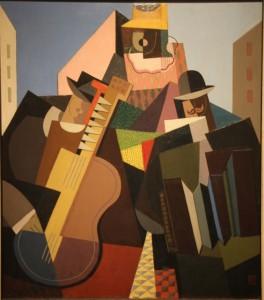 Emilio Pettoruti (Arg) - la cancion del pueblo (1927), 74x65 cm