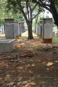 tombs at the old Dutch cemetery