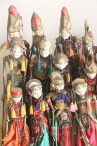 puppets in the Wajang Museum
