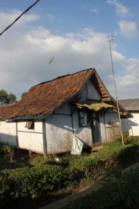 one of the traditional houses in the Sunda village