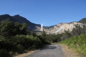 the crater of Gunung Papandayan