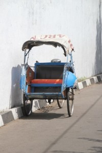 the transport of choice in central Yogya