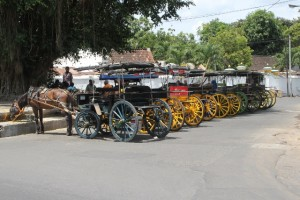 choice of andongs, horse-drawn carts